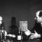 Дискуссия Сергея Викторовича Голубкова и Марка Анатольевича Захарова в Театре Ленинского комсомола по поводу производственной темы на сцене была опубликована во французском журнале «Пари Матч», 1982 г.
