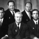 Лауреаты закрытой Ленинской премии 1972 года: слева направо – И.В. Мартынов, С.В. Голубков, В.М. Зимин, А.П. Томилов, И.М. Мильготин.